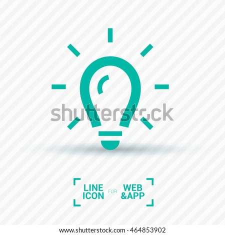 Lamp Isolated Minimal Single Flat Icon. Light Line Vector For Websites And  Mobile Minimalist Design