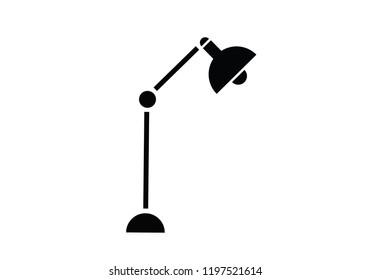Lamp light bulb desk object illustration