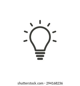 Lamp  line icon  on white background. Vector illustration.