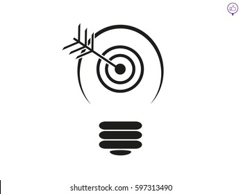 lamp, objective target, icon, vector illustration eps10