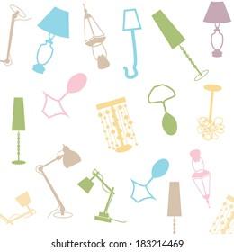 lamp pattern vector