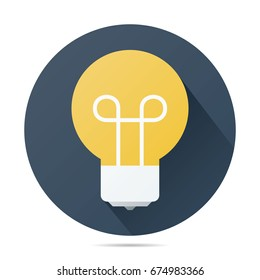 lamp vector flat icon
