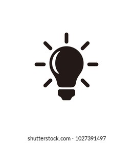 Lamp vector icon isolated on white background.