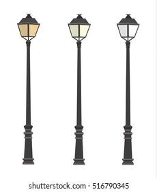 Lamppost. Lanterns. Street lights. Lamp post.