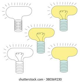 Lamps Light Set Vector