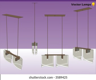 lamps vector composition