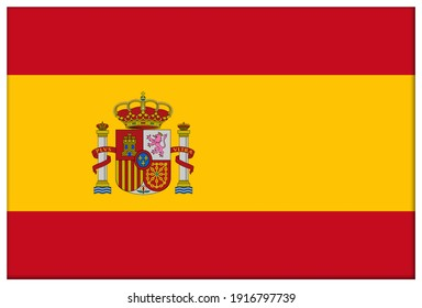 Lampung, Indonesia - February 10th 2021. spain flag