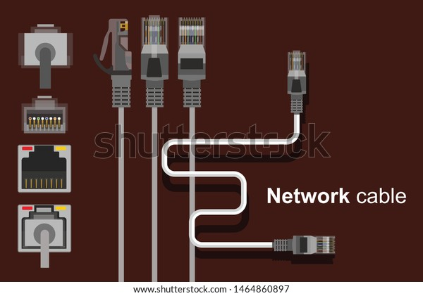 wiring network sockets diagram lan wire network cable network socket stock vector  royalty free  lan wire network cable network socket