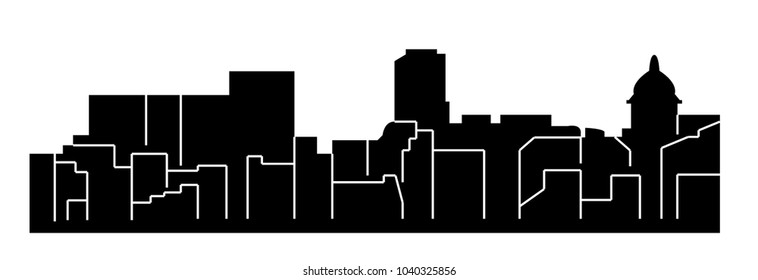Lancaster, Pennsylvania ( city silhouette )