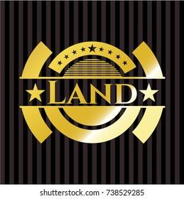 Land gold shiny emblem