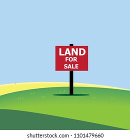 Land for sale sign board-vector