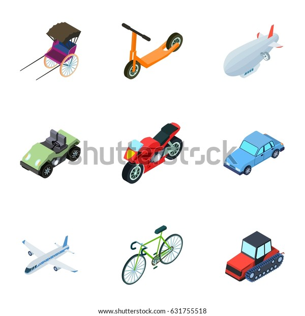 Land Water Air Transport Machines That Stock Vector (Royalty Free
