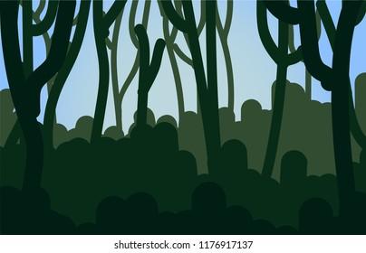 landcape forest vector
