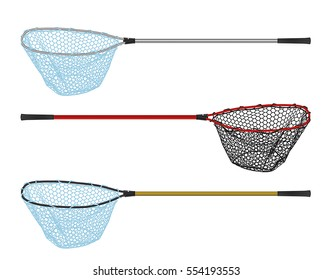 Landing net vector on a white background