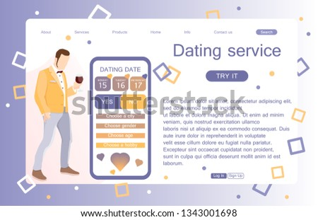 dating site landing page
