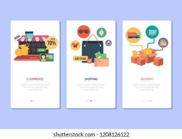 Landing Page Design - eCommerce, Shopping and Delivery