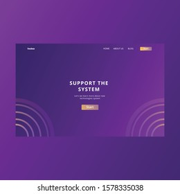 landing page design. tech landing page. hero section page