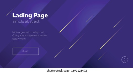 Landing page.  minimal geometric background