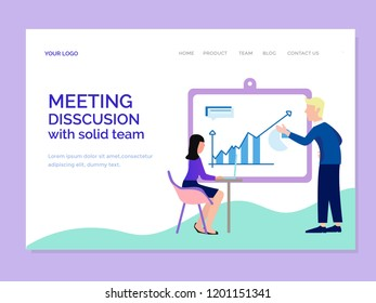 landing page template with disscusion team