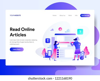 Reading Online Article Images, Stock Photos & Vectors