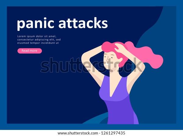 Landing Page Templates Psyhology Mental Problems Stock