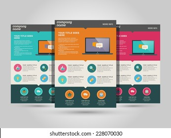 Landing page vector template - flat design