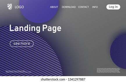 Landing page. Website template. Abstract background. Web design landing page. Trendy gradient poster. Vector illustration.