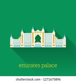 Landmark of Dubai Icon Design
