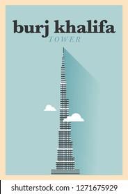 Landmark of Dubai Poster Design