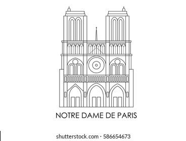 Landmark of France Notre Dame de Paris Icon