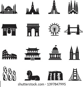 Landmark Icons set and cultures