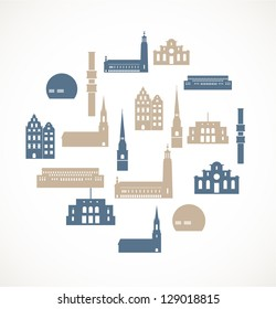 Landmark icons - Stockholm
