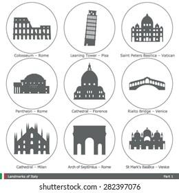 Landmarks of Italy (Part 1)