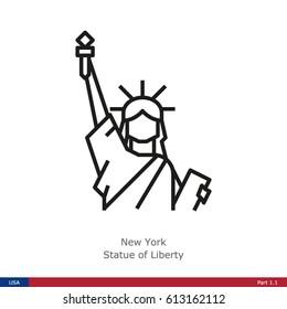 Landmarks of the USA - New York: Statue of Liberty