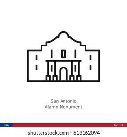 Landmarks of the USA - San Antonio: Alamo Monument