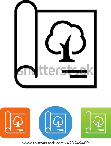 Landscape Architecture Blueprints Inside Landscape Architecture Blueprint Icon Architecture Blueprint Icon Stock Vector royalty Free