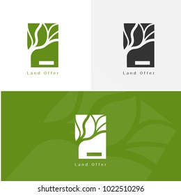 Landscape architecture logo for branding identity. Vectot image.