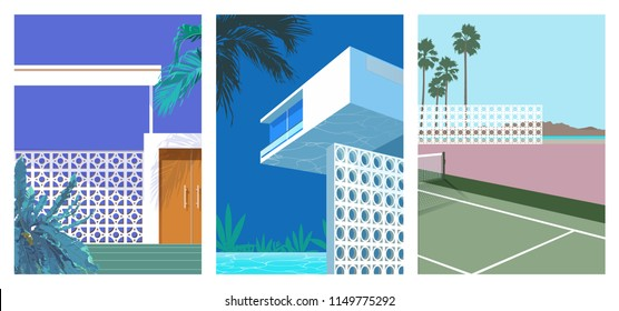 landscape architecturesimple  illustration. nostalgic / inspiration