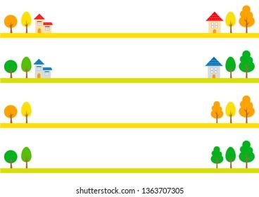 Landscape background (line) set