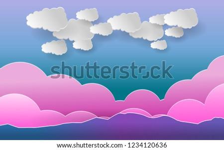 Landscape Background Sky Cloud Wallpaper Vector Stock Vector