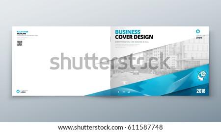 landscape brochure design corporate business template のベクター