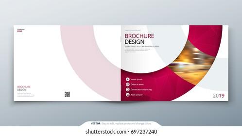 Landscape Brochure Design Magenta Corporate Business Stock Vector Hd