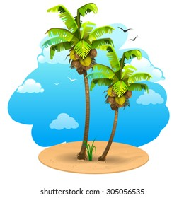 Landscape with coconut tree