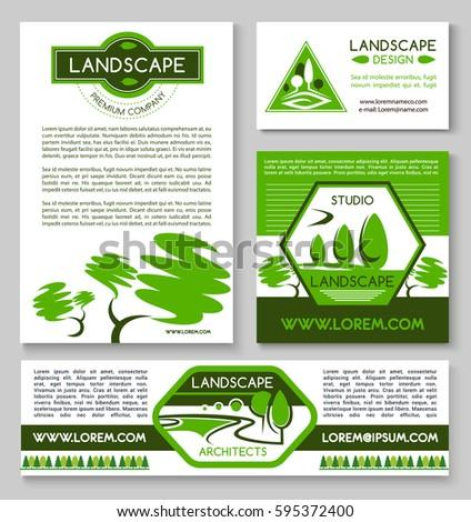 landscape design business banner template set stock vector royalty