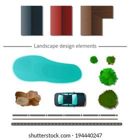 Landscape design elements high quality