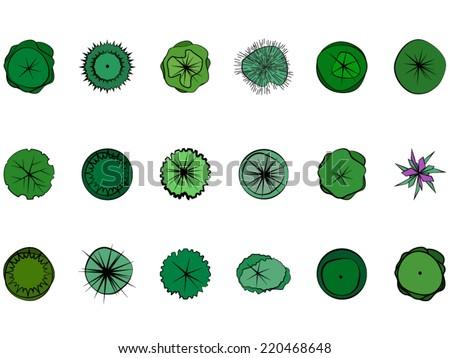 Landscape Design Symbols Stock Vector Royalty Free 220468648