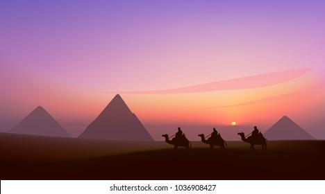 landscape. Egypt pyramids