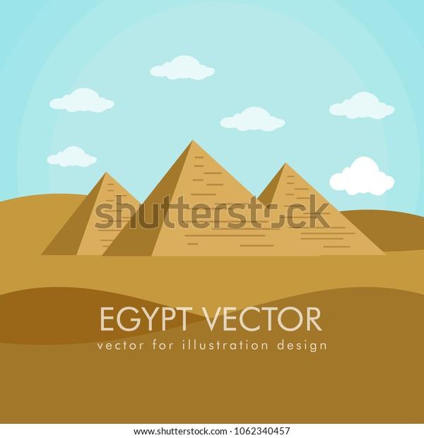 Landscape egypt vector and landmarks