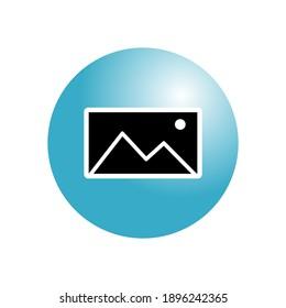 Landscape Frame Icon For Web Or App