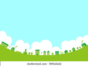 Landscape of the green city